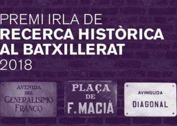 Premi Irla de Recerca Històrica al Batxillerat 2018
