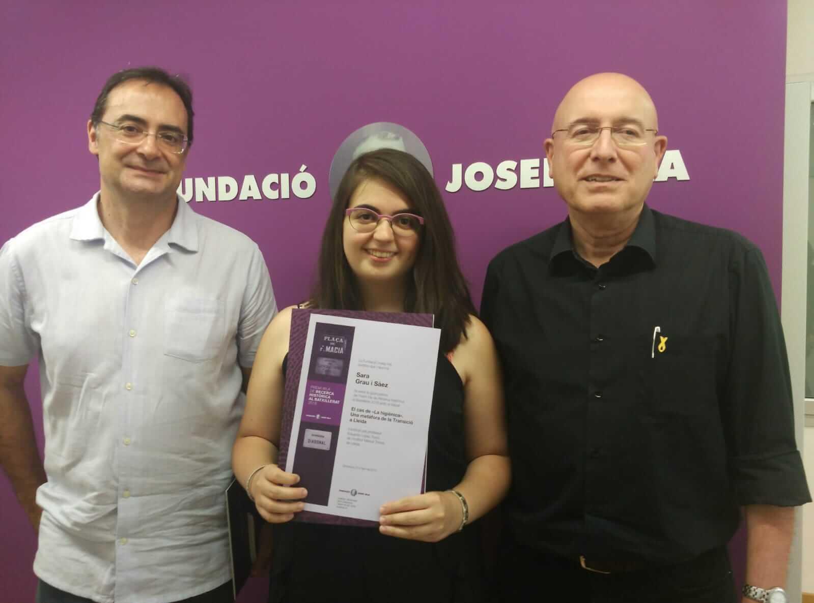 Eduardo López, Sara Grau i Joan Manuel Tresserras