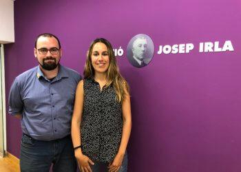 Berta Florés es reuneix amb el director acadèmic de la Fundació, Lluís Pérez