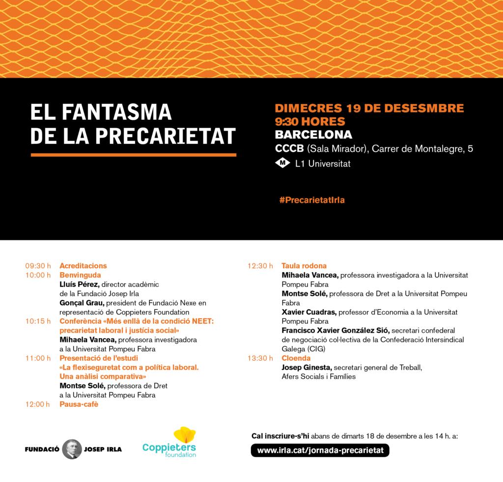 jornada precarietat Fudnació Josep Irla i Coppieters Foundation