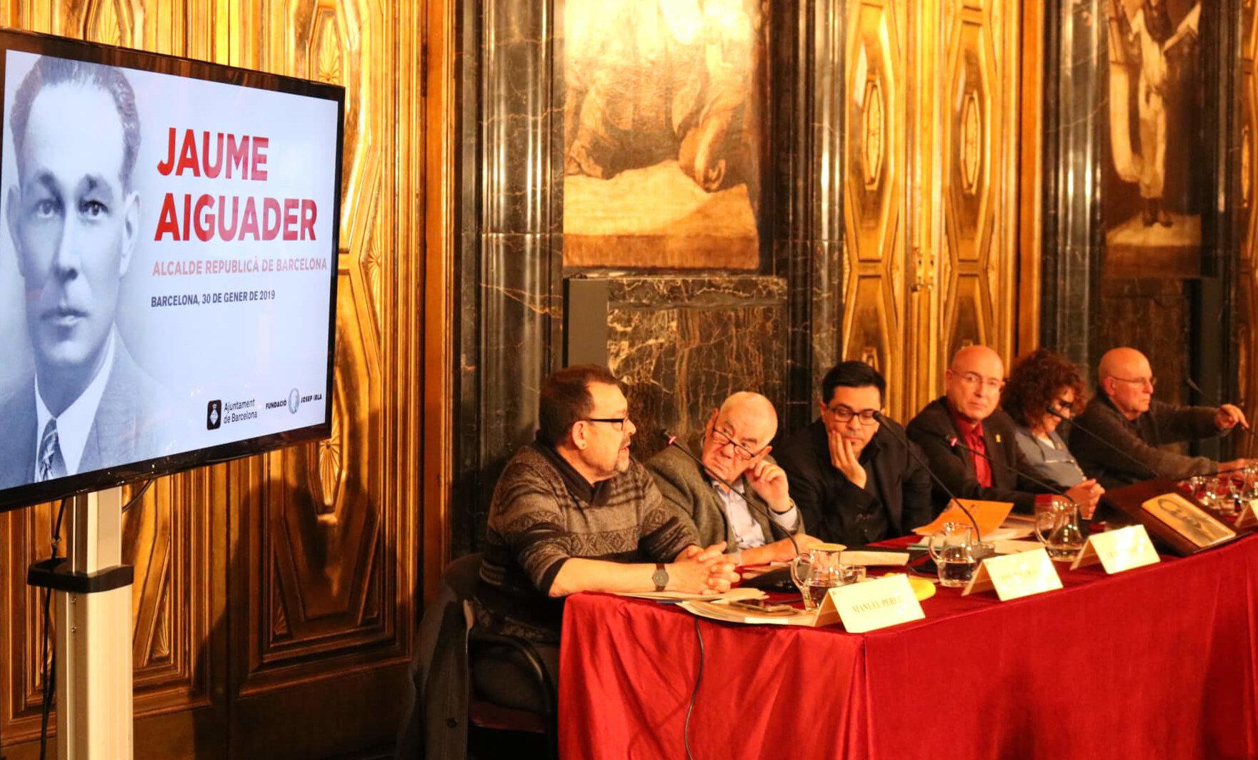 La presentació de la biografia de l'alcalde barceloní Jaume Aiguader