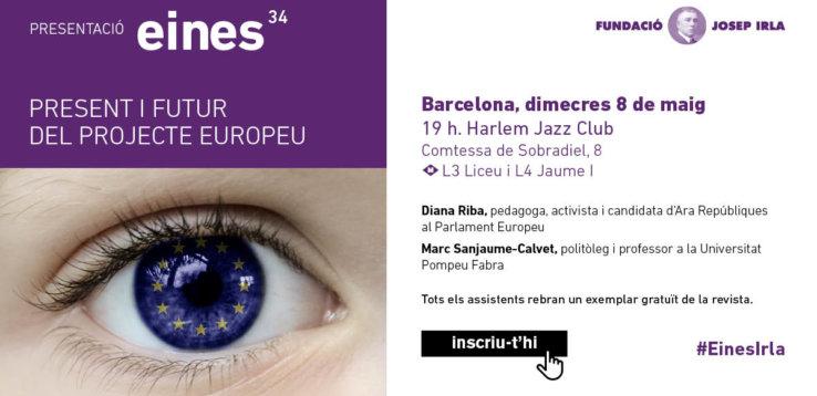 Acte de presentació de l'Eines 34, amb Diana Riba i Marc Sanjaume-Calvet